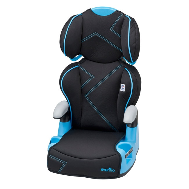 Evenflo AMP High Back Booster Car Seat in Blue Angles