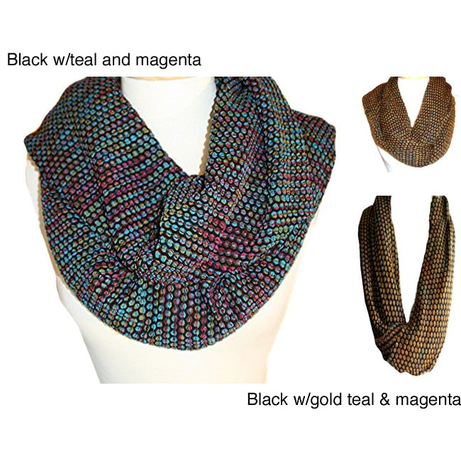 Textured Bubble Knit Infinity Scarf