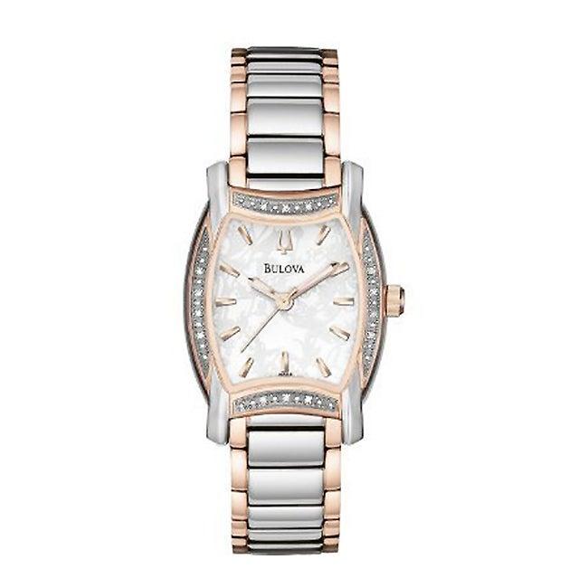 Bulova Women's Lawton Diamond Bezel Watch