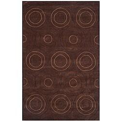 Dynasty Hand-tufted Brown Area Rug (9'6 x 13'6)