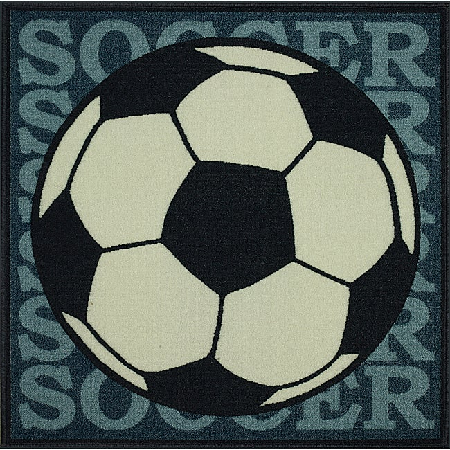 Somette Tufted Soccer Rug (3' x 3')