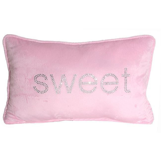 Thro 12 x 20 Sweet Rhinestone Pillow
