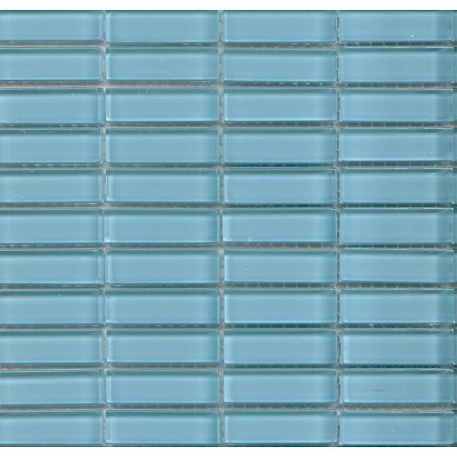 Lush 11.5x11.5-in. 'Breaker' 1/2x2-in. Glass Tiles (Pack of 10)