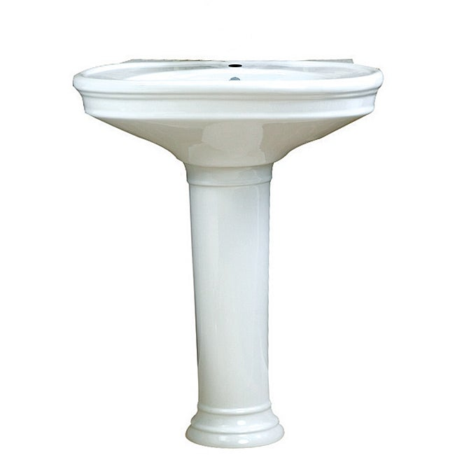 Decolav Sinks : Decolav Vitreous China Pedestal Sink - 14197592 - Overstock.com ...