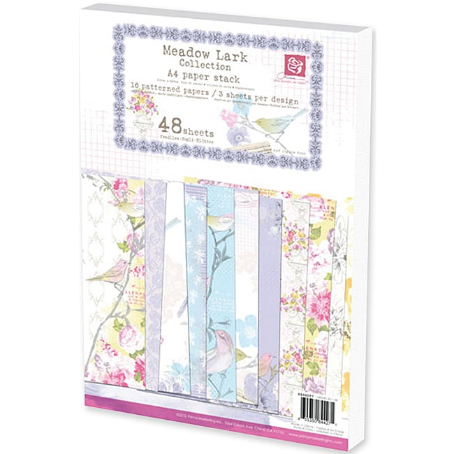 Prima Flowers 'Meadow Lark' A4 Paper Stack (48 sheets)