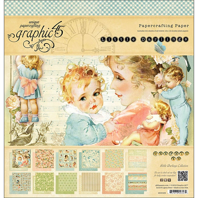 Graphic 45 'Little Darlings Collection' Double-sided Paper Pad