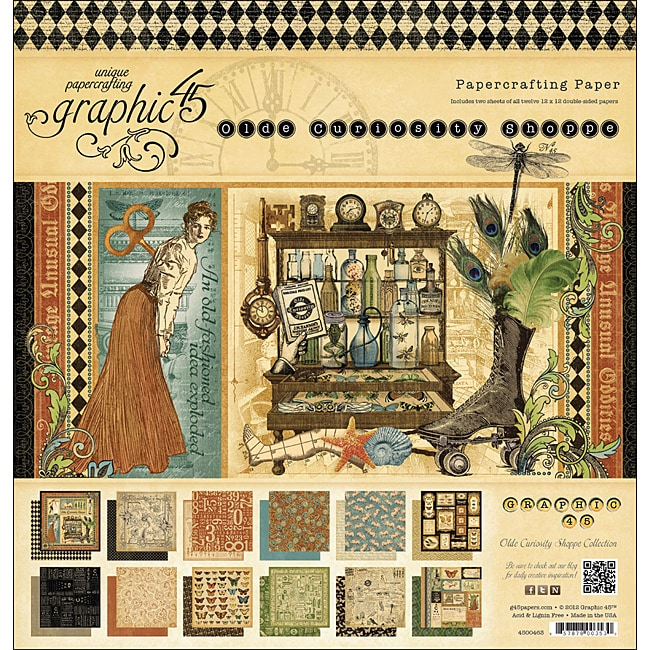Graphic 45 'Olde Curiosity Shoppe' Double-sided Paper Pad