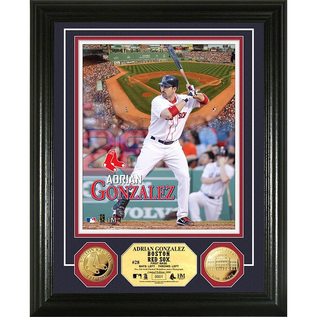Boston Red Sox Andrian Gonzalez Gold Coin Photo Mint