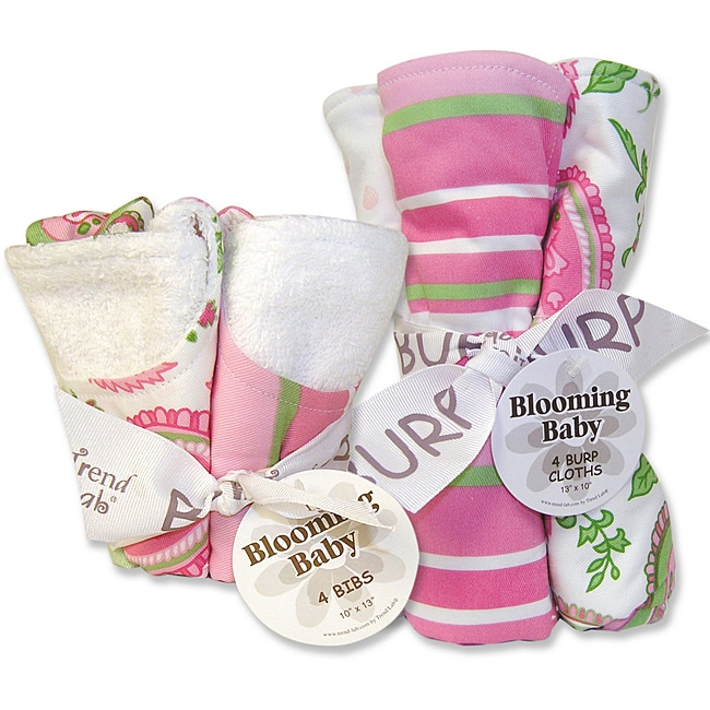Trend Lab Bib and Burp Cloth Set in Paisley