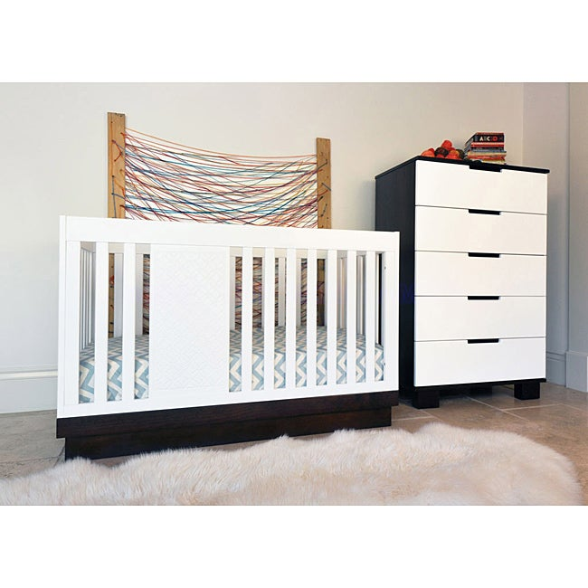 Babyletto Harlow 3-in-1 Espresso/ White Convertible Crib