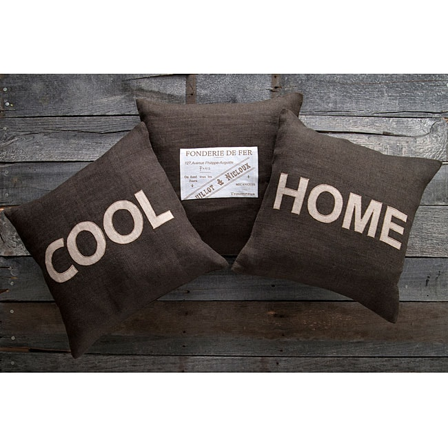 Cool Home 18-inch Square Decorative Pillows (Set of 3) at Sears.com