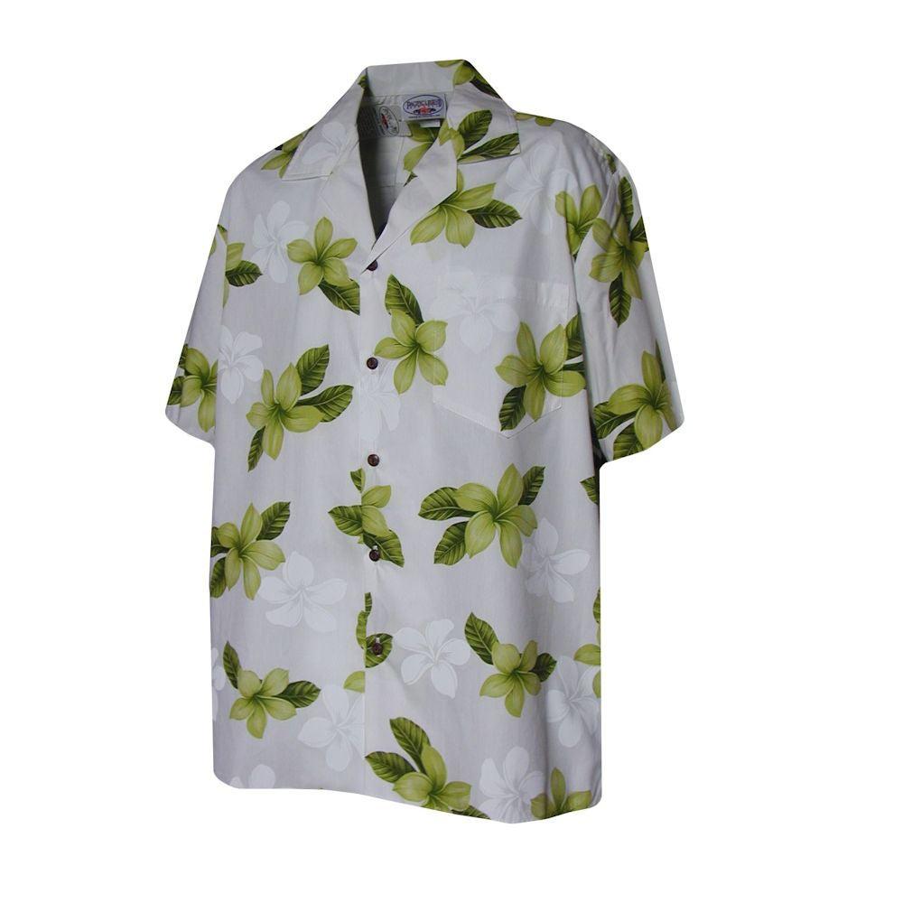Hibiscus Shadow Boys Lime Hawaiian Aloha Shirt