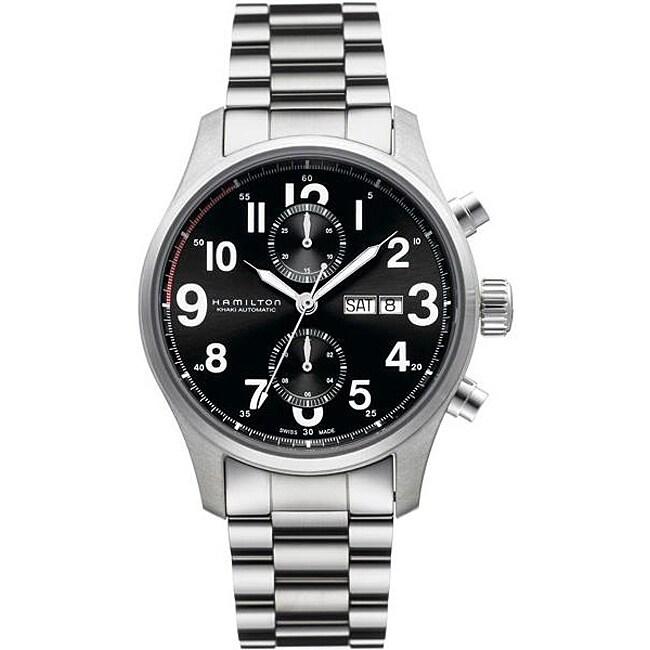 Men's Hamilton Khaki Officer Black Dial Watch H71716133