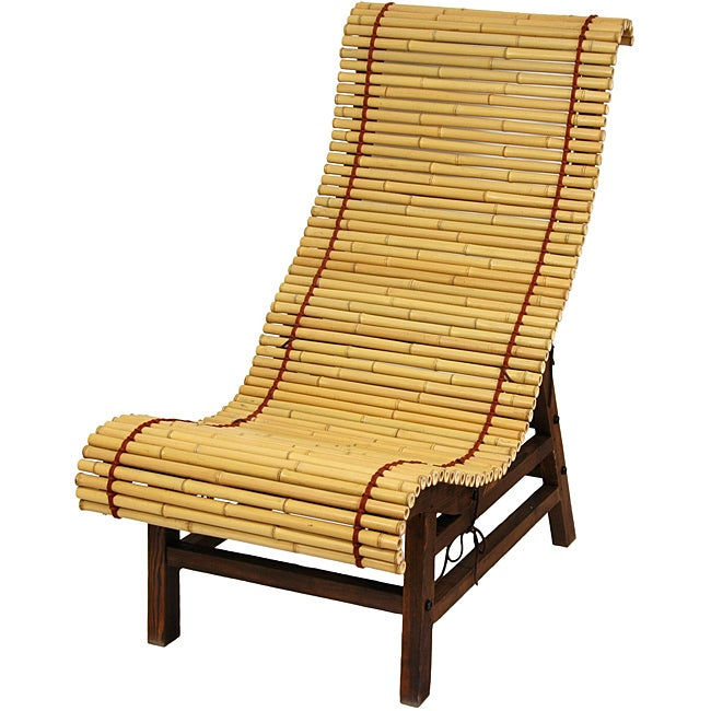 Curved Japanese Bamboo Lounge Chair (China)