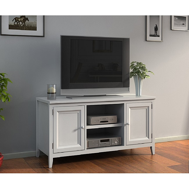 White 50-inch Plasma TV LCD Stand/ Media Console