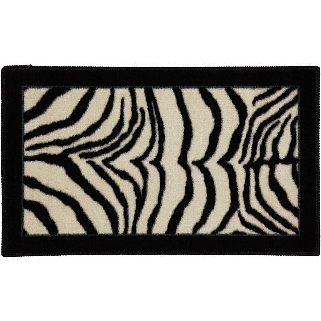 Zebra Safari Accent Rug (1'8 x 2'10)