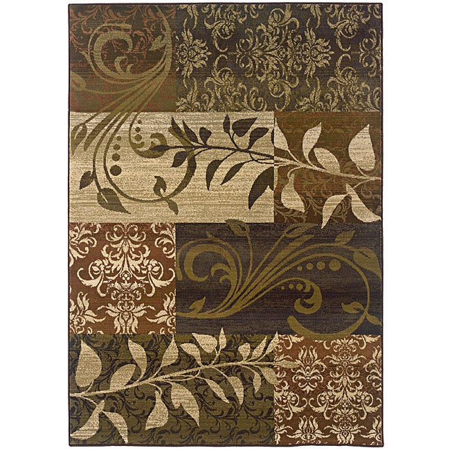 Sydney Rust/ Beige Transitional Area Rug (5' x 7'6)