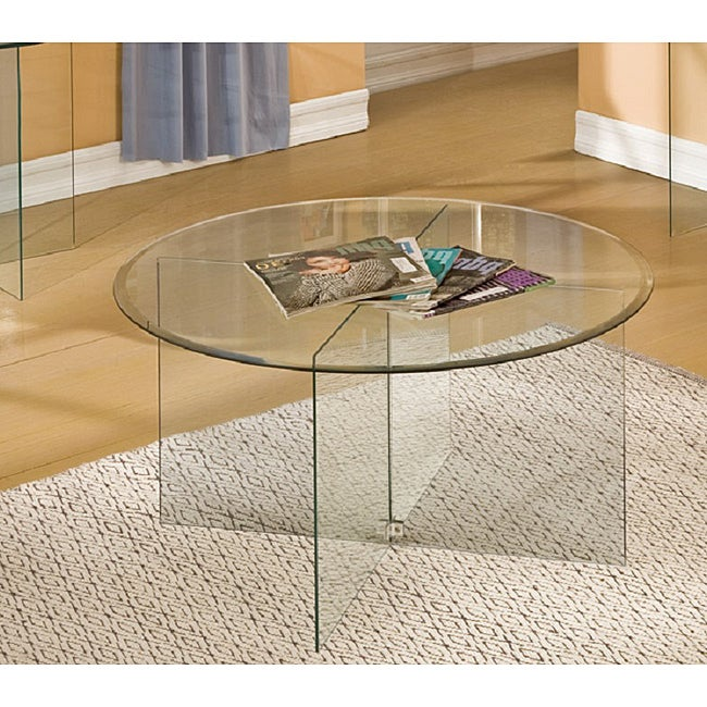 Glassix Round Glass Coffee Table 14216296 Shopping Great Deals On Coffee