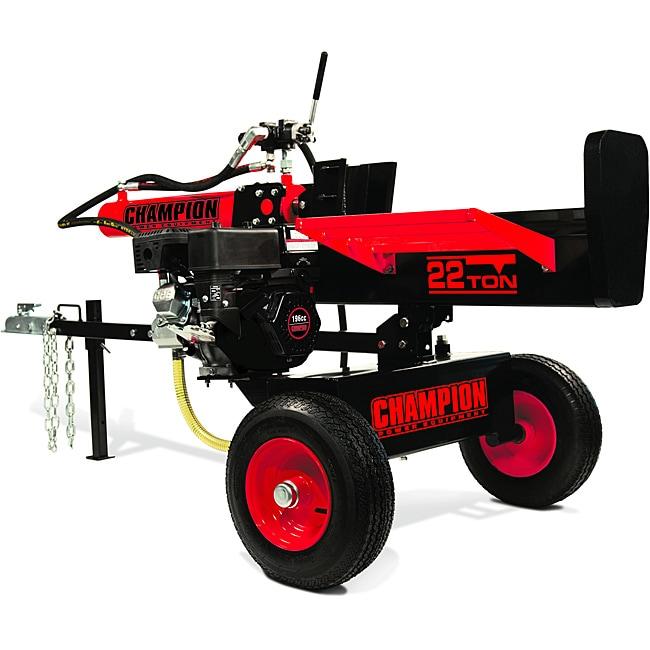 Champion 22 Ton Horizontal/ Vertical Hydraulic Log Splitter with Log Catcher (Unassembled)