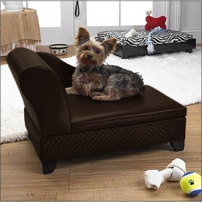 Enchanted Home Brown Nonskid Foam-filled Basketweave Storage Pet Bed