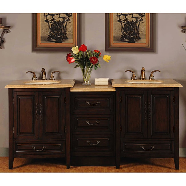 72 inch stone countertop bathroom vanity lavatory double sink cabinet