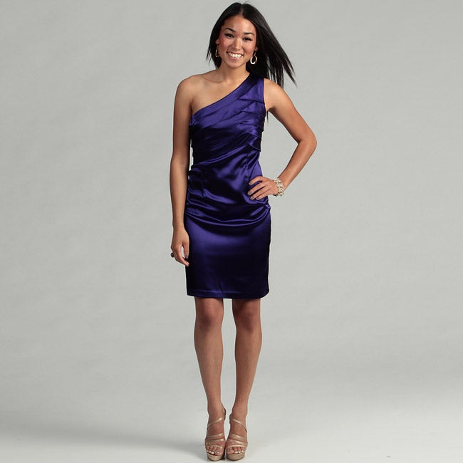 London Times Women's Purple Passion Shutter Dress