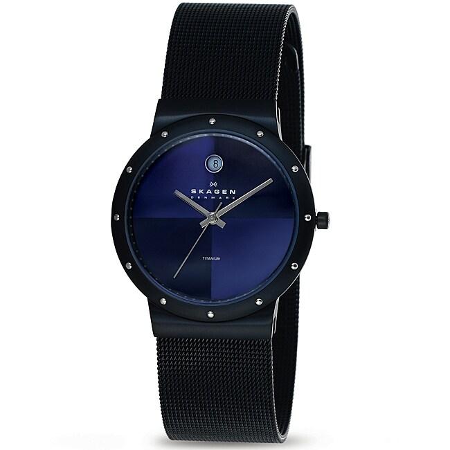 Skagen Men's Black Titanium Case Watch
