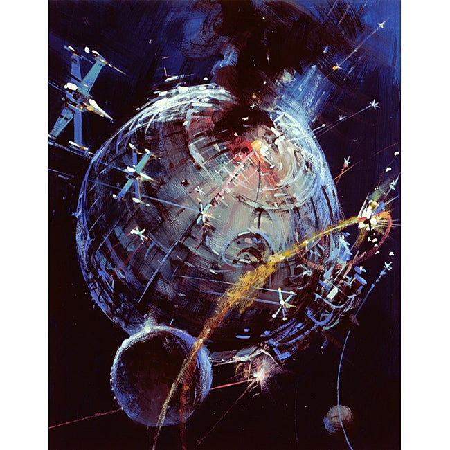 """""""Death Star Battle"""" Star Wars Collectable Lithograph"""