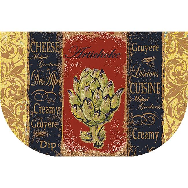 French Veggies Kitchen Accent Rug (1'6 x 2'6)