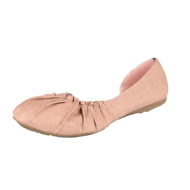 Neway by Beston 'Pansy-02' Women's Pink Ballet Flats