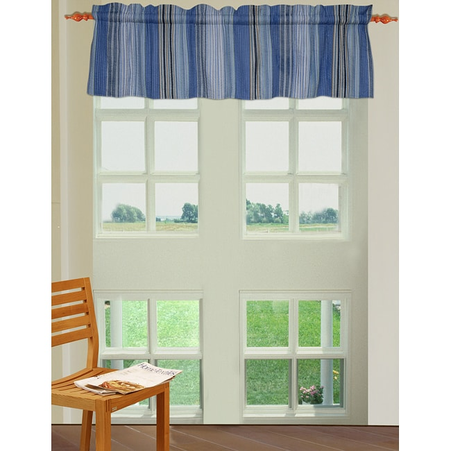 Greenland Home Fashions Bristane Multi-striped Quilted Valance (84 x 18 in)