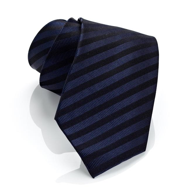 H. Luzzario And Co. Men's Marina Blue Stripe Tie