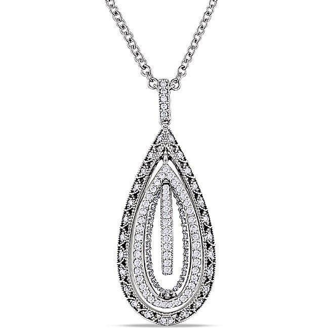 Miadora 18k White Gold 5/8ct TDW Diamond 18.5-inch Necklace (G-H, SI1-SI2)