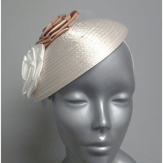 Swan Hat Satin Ribbon Ivory Fascinator Hat