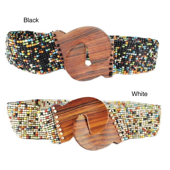 Women's Stretch Beaded Belt