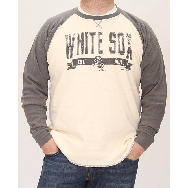 Stitches Men's Chicago White Sox Raglan Thermal Shirt