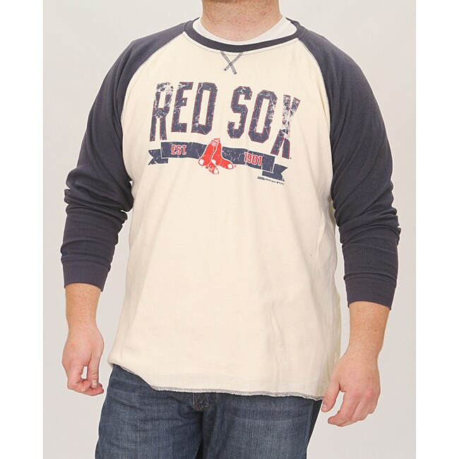 Stitches Men's Boston Red Sox Raglan Thermal Shirt
