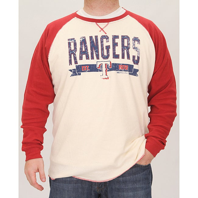 Stitches Men's Texas Rangers Raglan Thermal Shirt