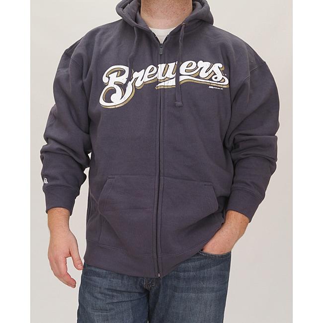 Stitches Men's Milwaukee Brewers Full Zip Hoodie