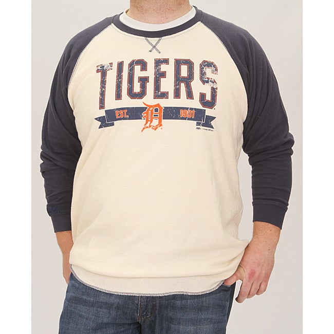 Stitches Men's Detroit Tigers Raglan Thermal Shirt