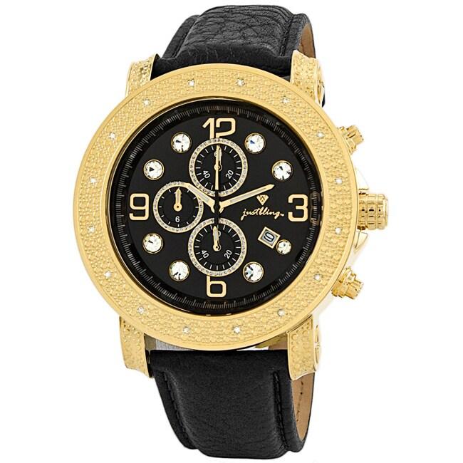 Men's Tazo 18K Gold-plated Diamond Watch