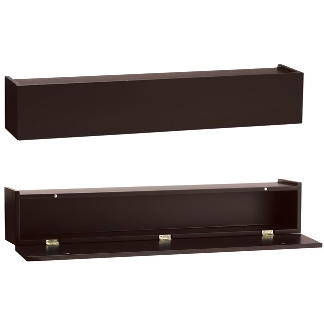 Mellanco 24-inch Espresso Ledge with Hinged Front