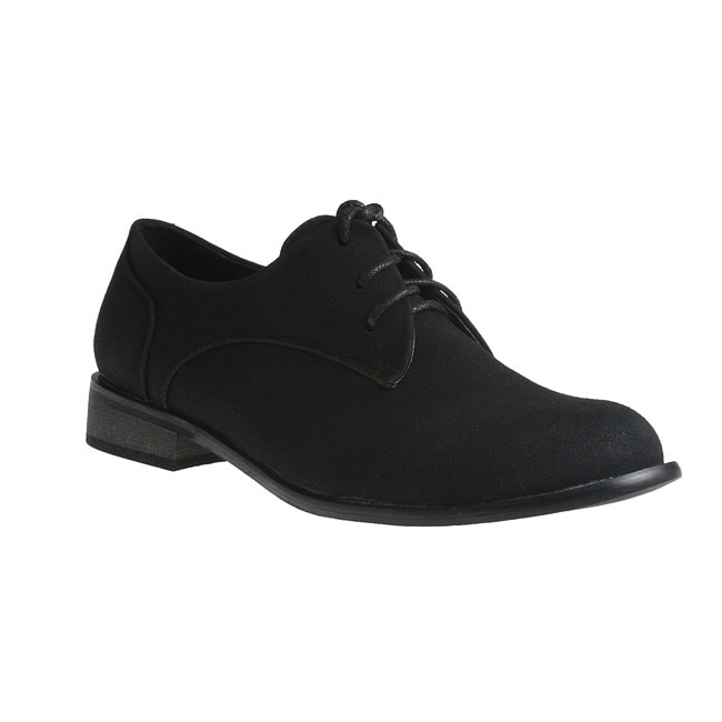 Refresh by Beston Women's Black 'ALEXIS-02' Oxford Shoes