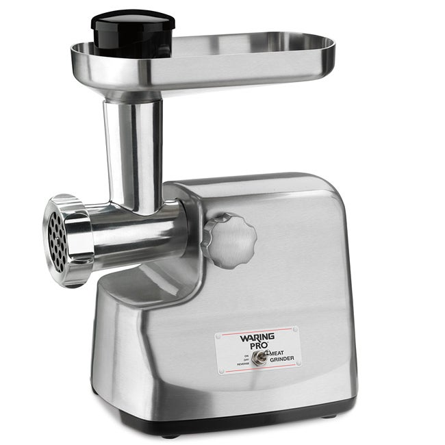 Waring Pro Die-cast Brushed Stainless Steel Meat Grinder