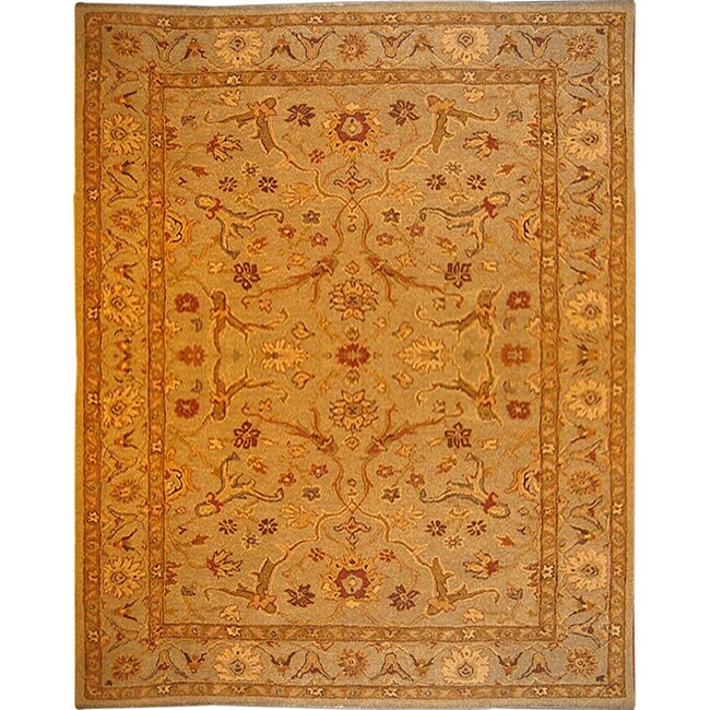 Hand-tufted Bronze/ Brown Wool Rug (5'6 x 8'6)
