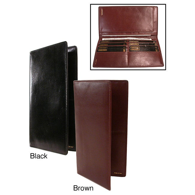 Polished Calf Leather Secretary Wallet
