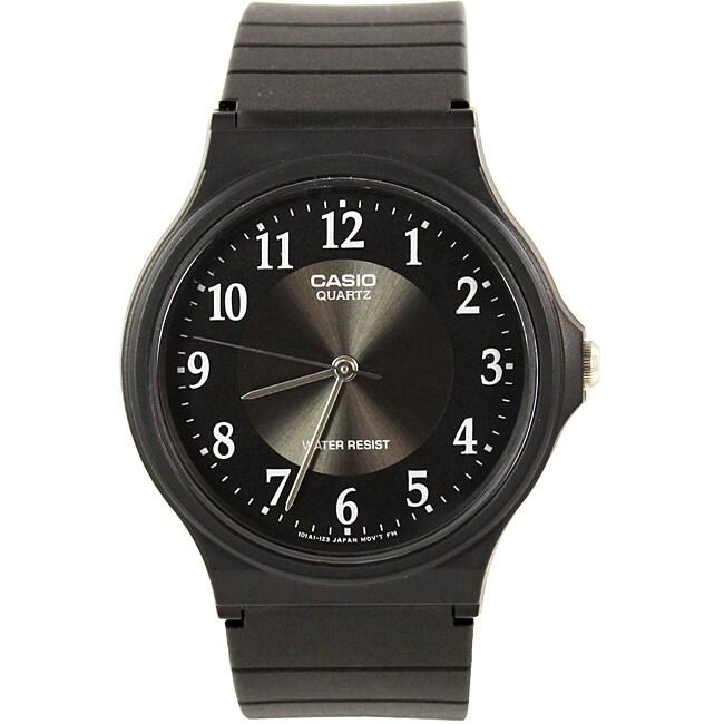 Casio Unisex Ultra Thin WATMQ24BK Black Silicone Sport Watch