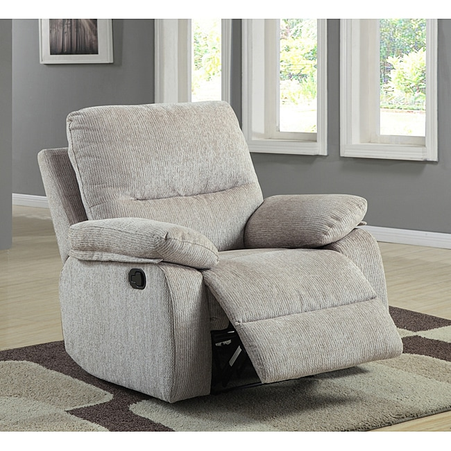 AT HOME by O ETHAN HOME Corbridge Light Beige Chenille Recliner Chair at Sears.com