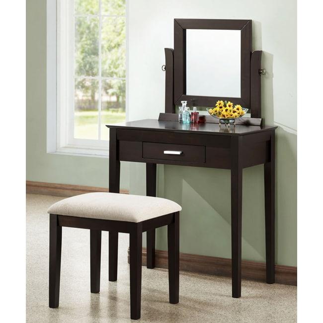 Cappuccino Oak Veneer 2-piece Vanity Set