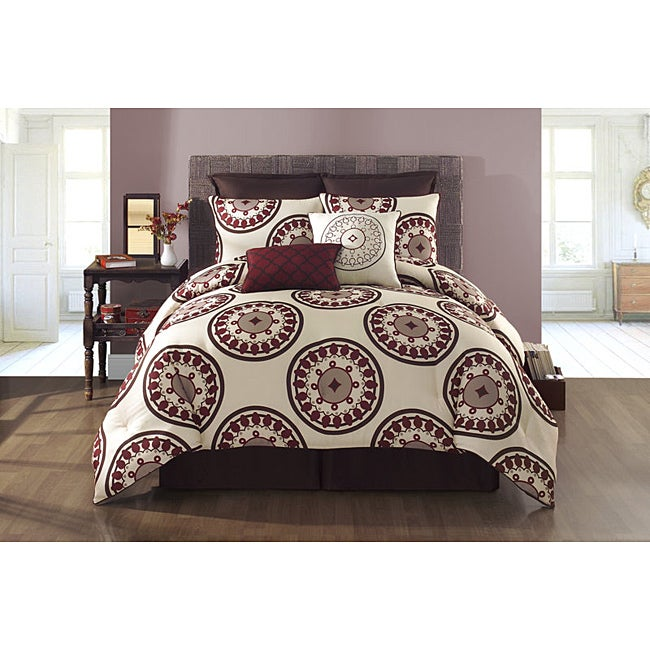 VCNY Bedford Reversible 6-piece TwinXL-size Comforter Set
